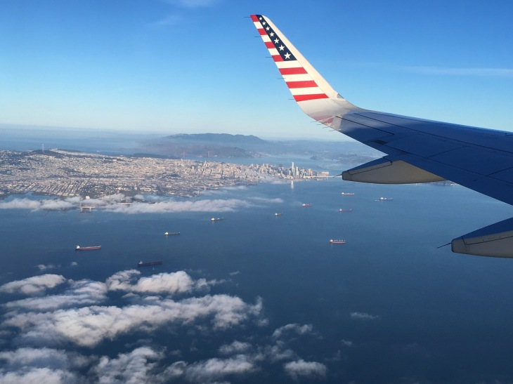 San Fran on Virgin flight